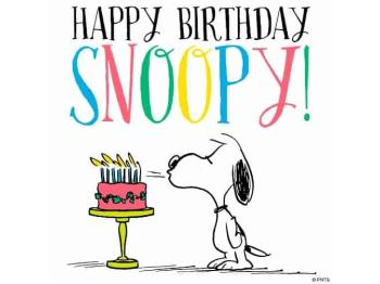 ¡Feliz Cumpleaños Snoopy!